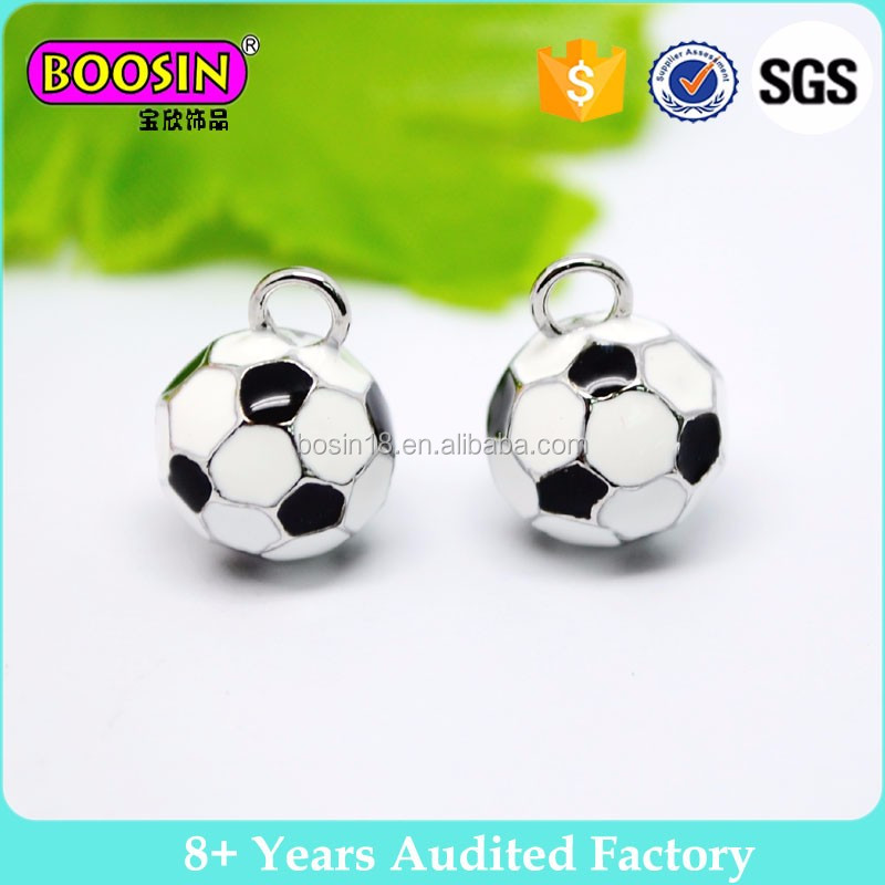 Enamel 3D round sport ball charm factory sale custom design is welcome #12527