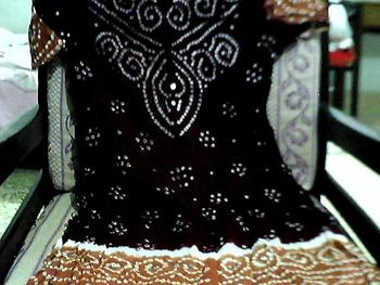 ANARKALI SUIT PUSHWESH SUIT THREE PC SUIT HAND WORK
