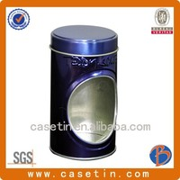 Recyclable Feature customized factory tin can/tin case/round metal box for cookie