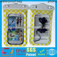 cheap waterproof phone bag for samsung i9300 cover case with IPX8 certificate for diving