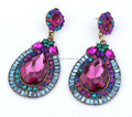 newest crystal bohemia earrings for women Vintage rainbow Statement Crystal Stud Earrings