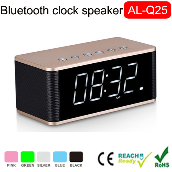 Portable FM Radio TF card Function Bluetooth Speaker With Alarm clock mini bluetooth speaker