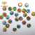 Wuzhou glass gemstone,round colorful two flat table crystal gemstone for womens shoes