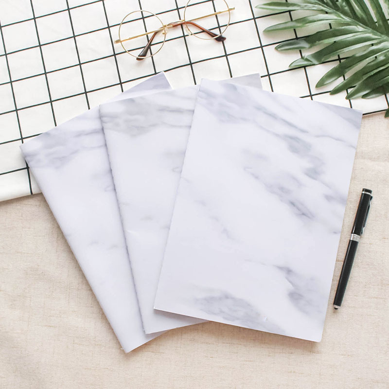 Cheap Price Hot Sell Sewn Stitched Bound Blank Paper Marble Notebook In Bulk