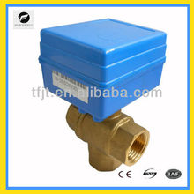 CWX-20P DC15 L-flow DC12V motorized ball valve for water treatment
