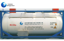 R134a Refrigerant Gas In Bulk ISO Tank For Cooling / Auto AC Refrigerant