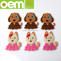 custom made latest soft pvc fridge magnet and fashion animal shaped silicone fridge magnet for souvenir