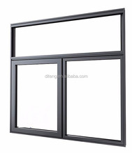 House Windows with Sliding Opening Open Style PVC Window Nail on Flange Glass Sliders Fly Screen Sliding Window with Fixed