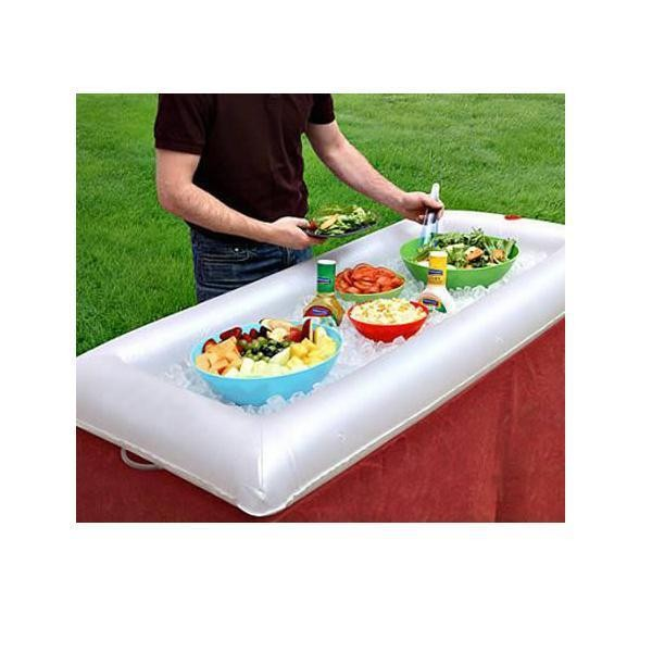 Inflatable serving cooler bar for party / picnic