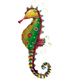 metal garden colorful seahorse hanging 3d wall art sculpture
