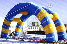PVC vinyl/tarpulin inflatable race arch, outdoor events inflatable sports arch K4075