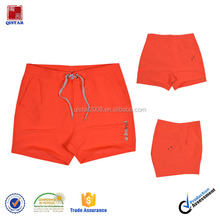 Classical Style 100% Microfiber Board Shorts /Solid Orange Color Mens Swimming Trunks