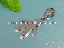 Cheap Stainless Steel Doll Charms