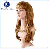 Abstract cheap 100%human hair mannequin heads with long hair