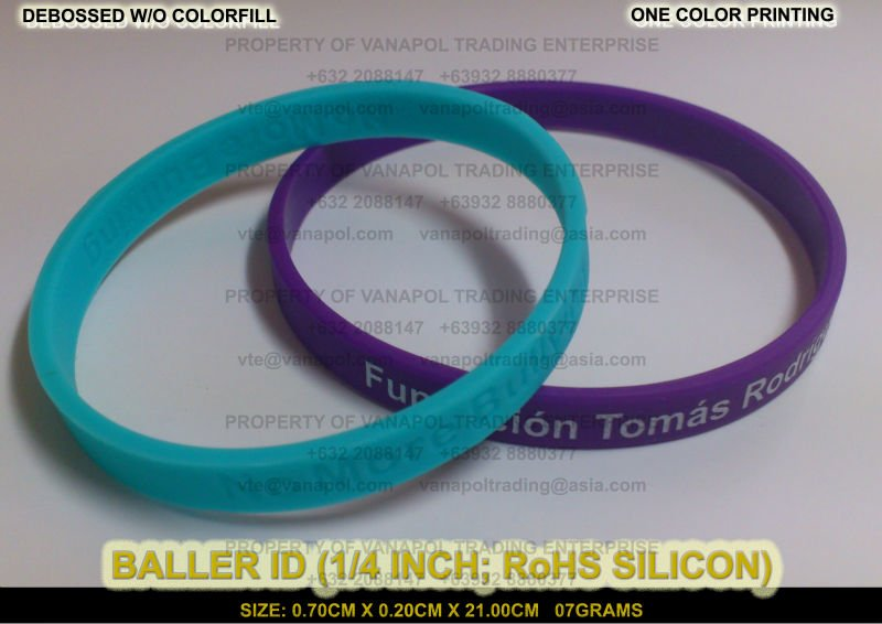 BALLER ID (1/4 INCH BAND; RoHS SILICON)