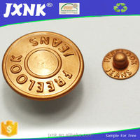best selling engraved logo jewelry jeans button and rivet