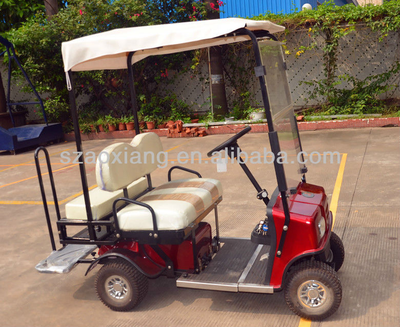 Electric Mini utility vehicles sale with 2 seater and golf bag holder