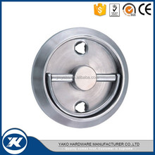 round shape stainless steel inset flush handle