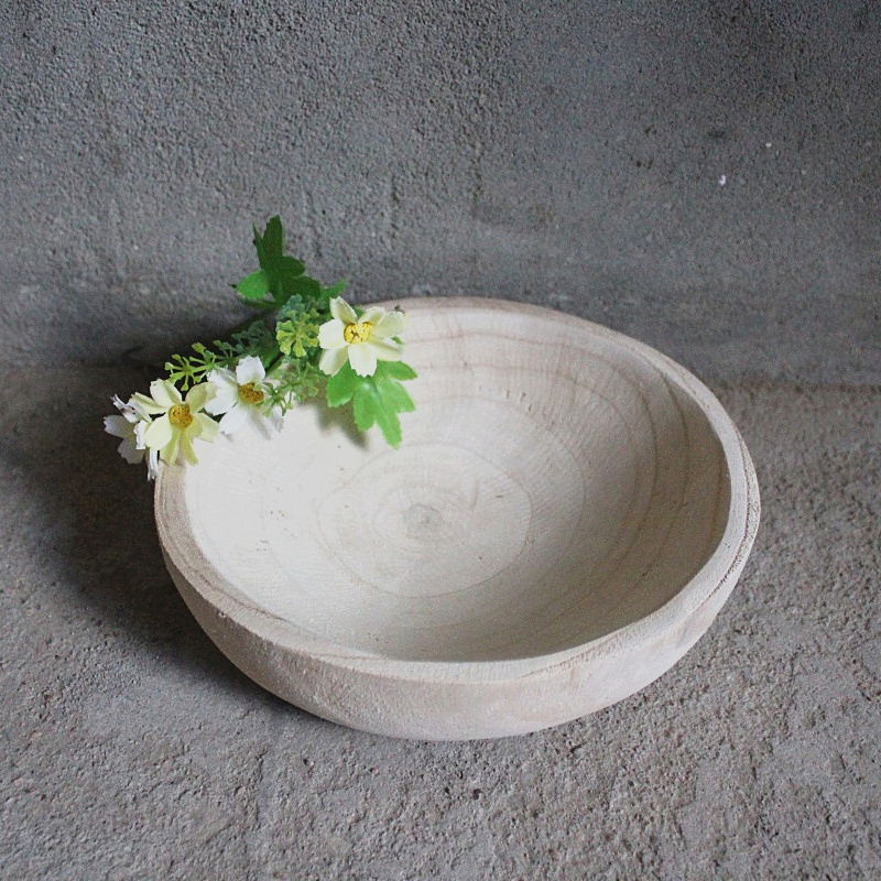 wholesale products unfinished wooden crafts wooden yarn bowl
