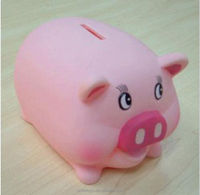 cute plastic pig money box custom made in ICTI factory for kids