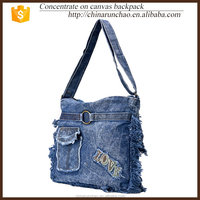 Film blue cowboy rough selvedge shoulder canvas bag promotional jean new products from en alibaba com