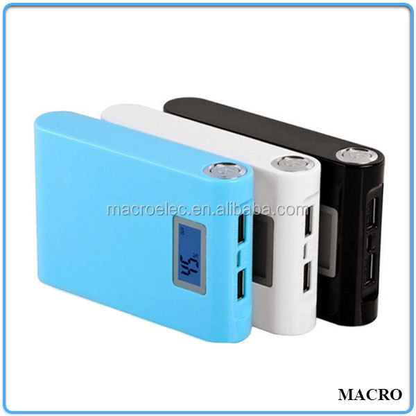 Universal External Portable Power Bank, LED Torch Light Portable Power Bank 12000mah