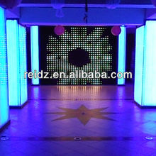 New design good selling led light black curtain for wedding stage decoration crystal