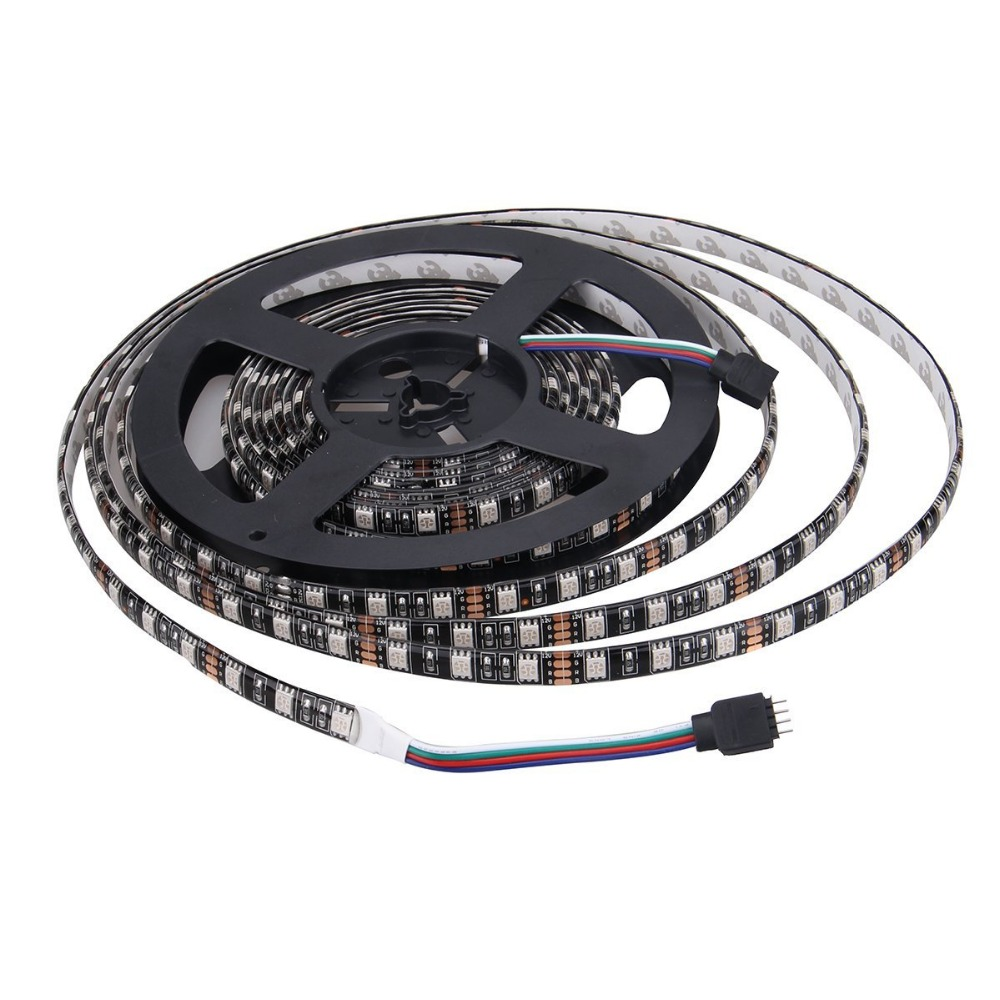 10M/32.8 FT 600LED (Two Rolls) SMD Black PCB 5050 Waterproof Flexible RGB Color Changing LED Light Strip + 44 Key Remote Control