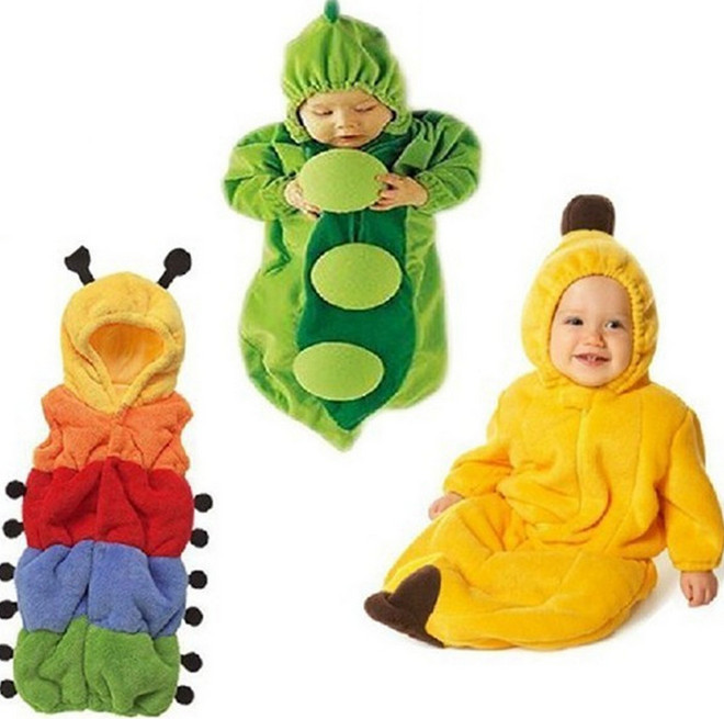 peas animal baby sleeping bag