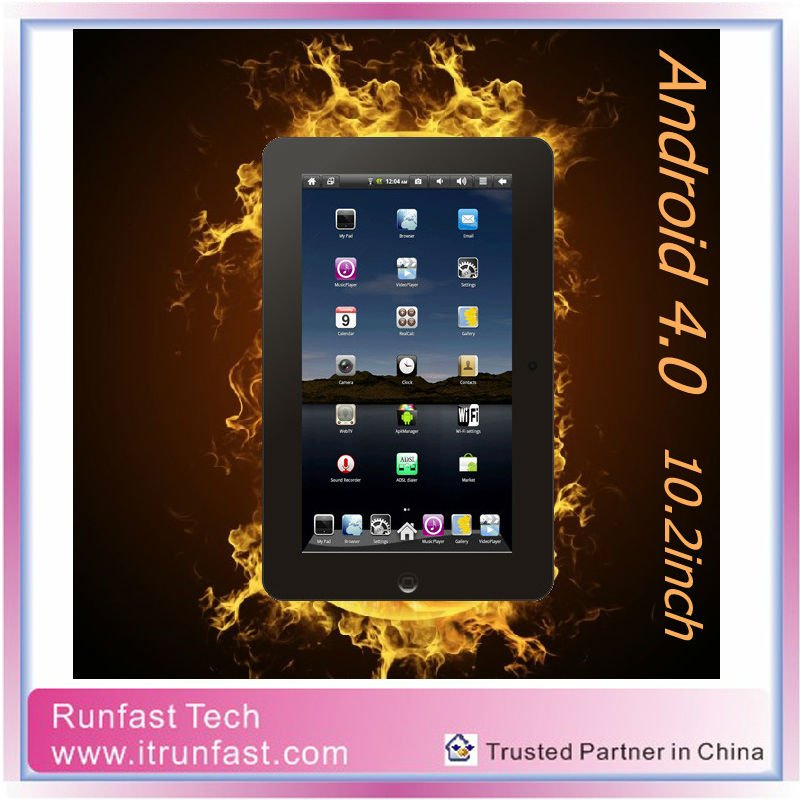 RS1002 10.1 inch Dual Core Android Tablet PC with RAM 1G/ROM 4G Front Camera 1024*600 Mini Laptop from Factory in Shenzhen