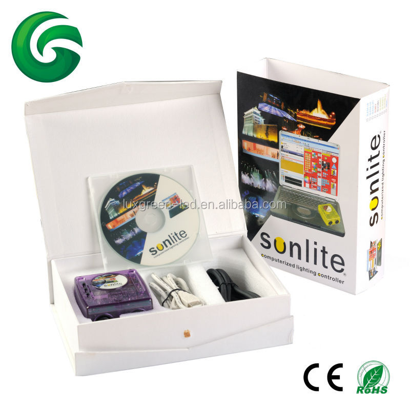 1024 channels dmx controller, usb with PC sunlite with software