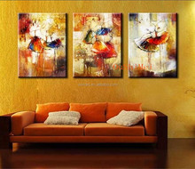 Handmade Picture On Canvas Modern Paintings Fabric Painting Designs Abstract Ballet Oil Painting