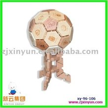 Wooden Toys of New Wooden World Cup Decorative Football