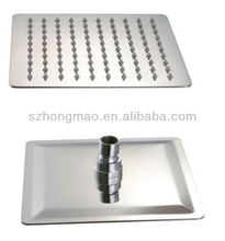 "304 Stainless steel square shower head 16"" with water saving function"