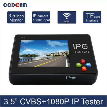 3.5inch Touch Screen IP Camera /Analog Camera CCTV Tester With Video Record, WIFI 12V 1A Output