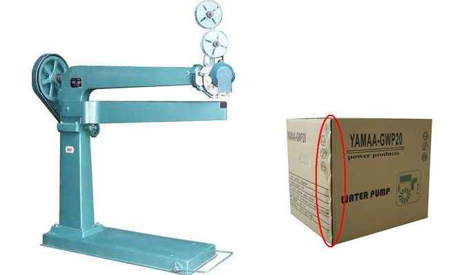 Carton Stapler stapling machine for corrugated cardboard sheet