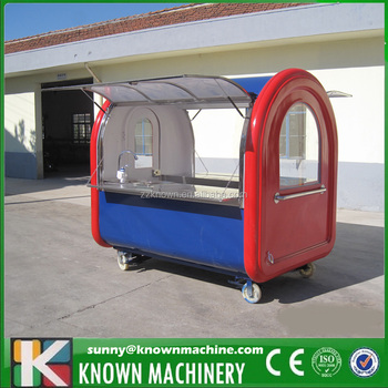 OEM Stainless Steel mobile fast food carts for sale