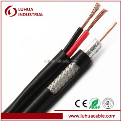 coaxial cable RG59 TV cable siamese cable with 2 power cables