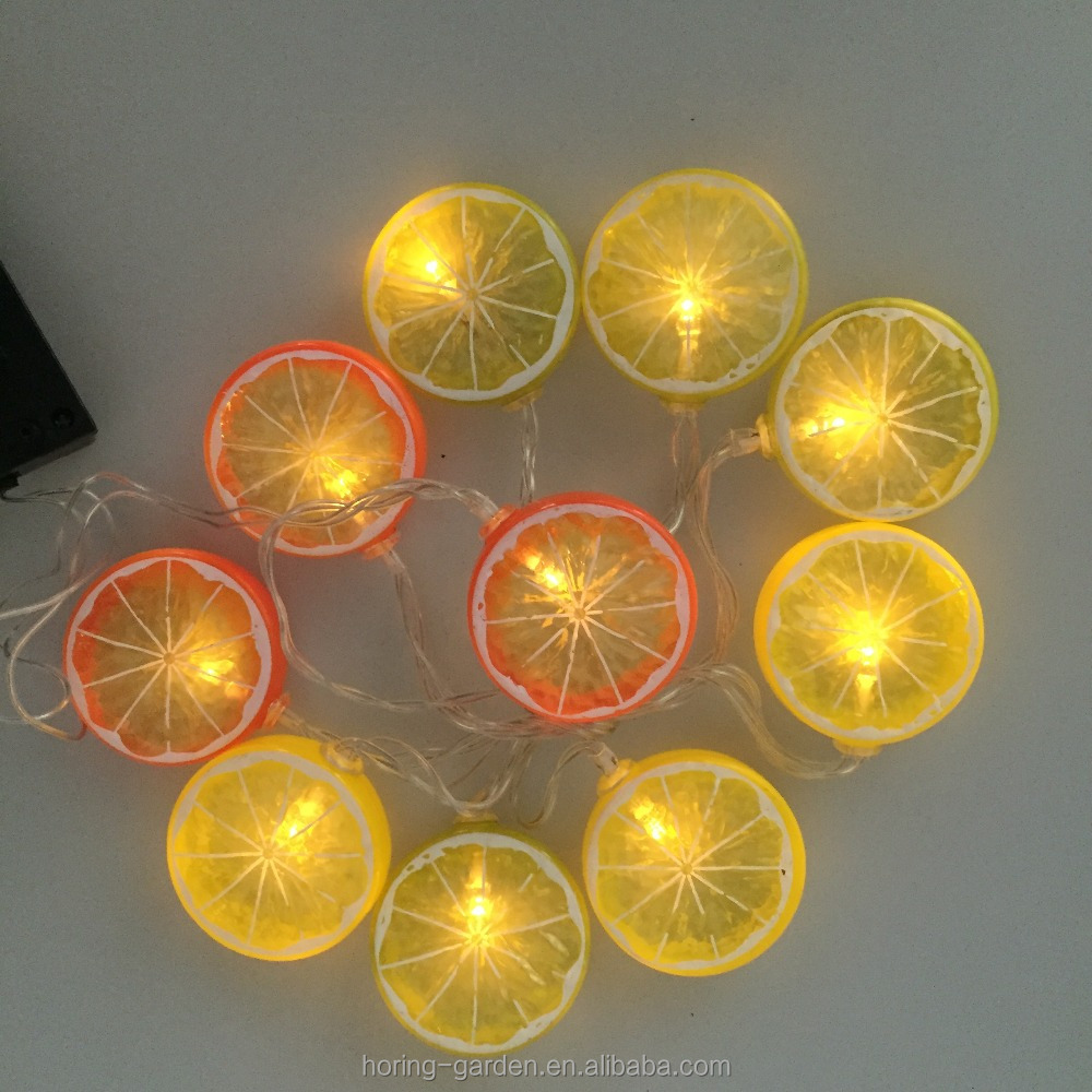 Lemon shape solar Christmas string lights with remote solar panel festival decoration solar lights