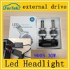 China wholesale brightest CR*EE led auto headlight 9005 12V 30w led headlight bulb for cars
