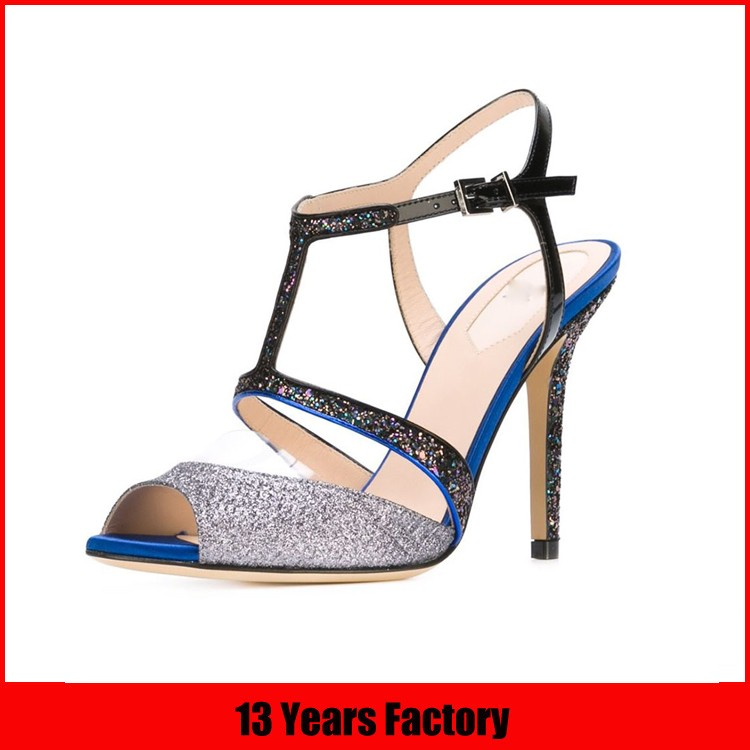 new design high quality best price elegant stylish ribbon lace ornament high heel shoes women sandals