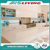 Affordable modern white high gloss laquer kitchen cabinets