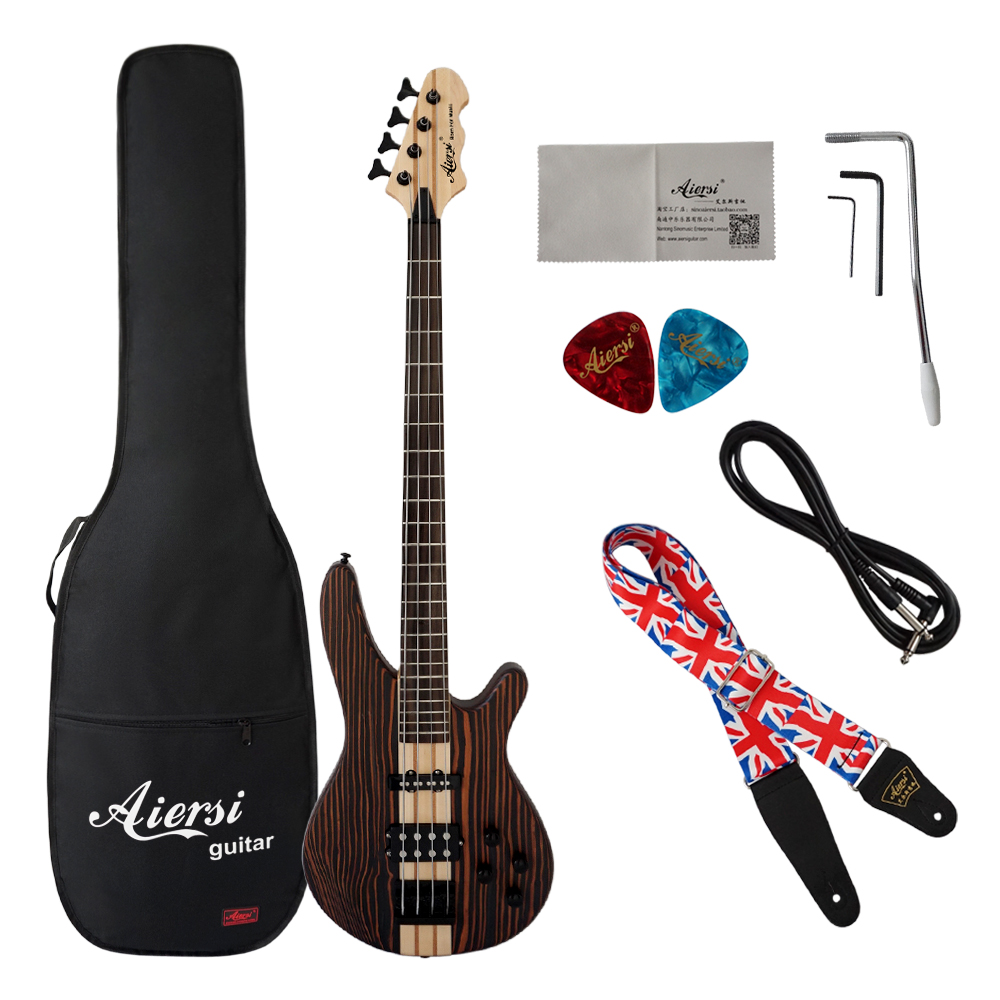 China Aiersi brand Bass Guitar Acoustic Electric Bass Guitar 4 string for Sale