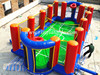 Top Sell PVC Inflatable Volleyball Field,inflatable basketball field
