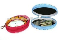 lady shopping portable zipper tin coin box