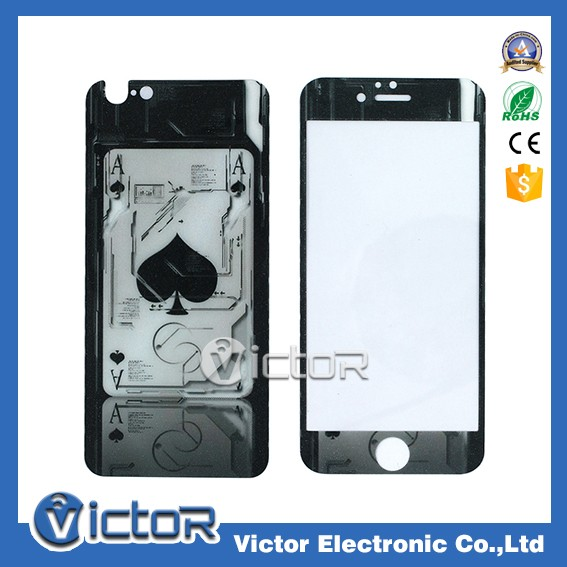 Fashion front and back 2 pcs custom printing screen protector for iPhone 6 tempered glass