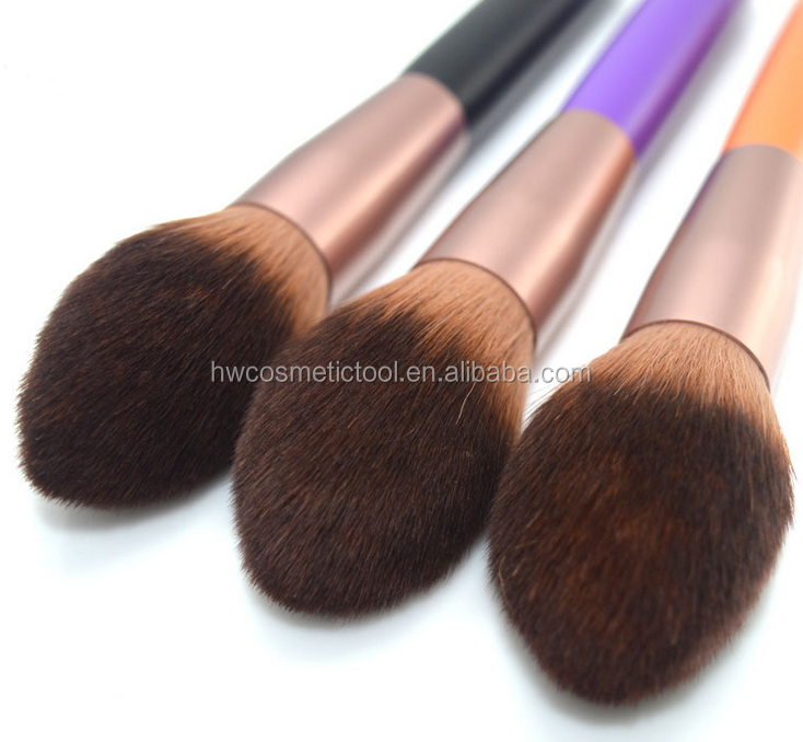 High quality flame shape head synthetic hair cheek blusher brush