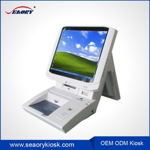 Self service ordering table stand touch internet stand smart teller machine kiosk