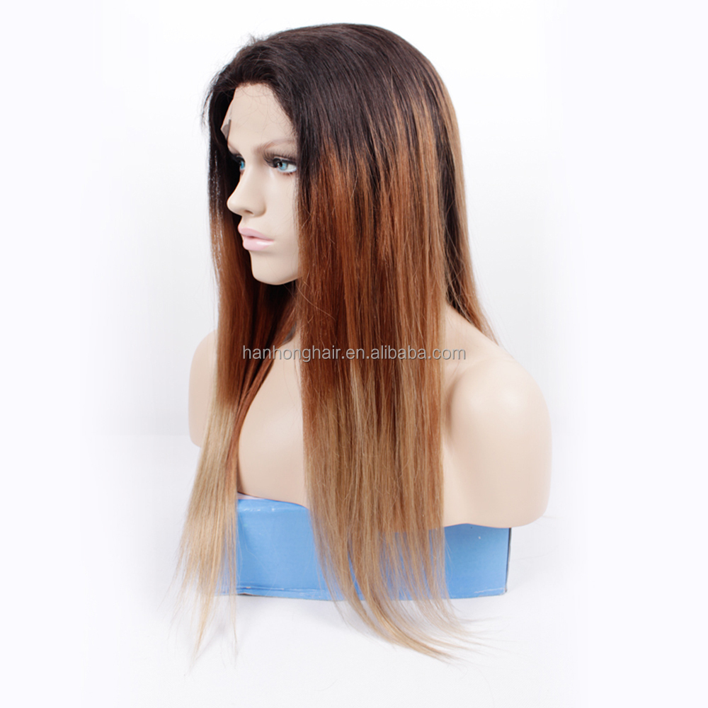 Malaysian Lace Front Wig Remy Human Hair Brazilian Hair Full Lace WigsHuman Hair Ombre Wig