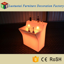 Lighting led furniture night club led bar counter with top groove